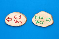 Old Way vs New Way royalty free stock photos