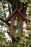 Old Wayside shrine in Siepraw near Cracow. Stock Photo