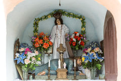 Old Wayside shrine in Siepraw near Cracow. Stock Image