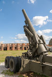 Old weapons - anti-aircraft guns, after war in Royalty Free Stock Photography