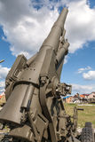 Old weapons - anti-aircraft guns, after war in Stock Photo