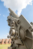 Old weapons - anti-aircraft guns, after war in Royalty Free Stock Images