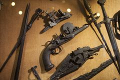 Old weapons of the sixteenth century Stock Photos