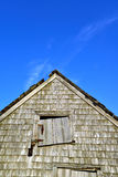 Old weather beaten Fisherman and lobsterman shack on the Maine C Royalty Free Stock Photography