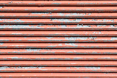 Old Weather Beaten Roll Up Industrial Door Royalty Free Stock Photo