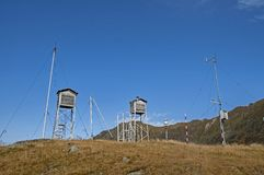 Old weather station in the top of the mountains Stock Image