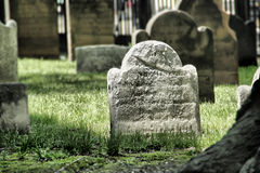 An Old Weather Worn Headstone Royalty Free Stock Photo