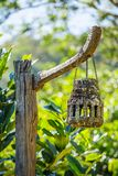 Old weatherd wooden lantern Stock Photography