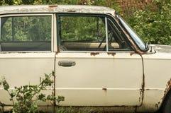 Old abandoned vintage car royalty free stock image