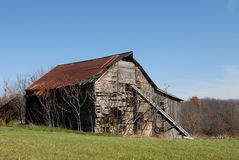 Old weathered barn Stock Images