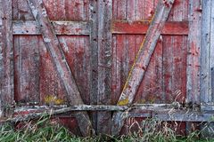 Old Weathered Barn Door Background royalty free stock images