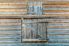 Old weathered barn doors Stock Images