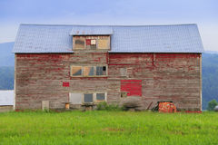 Old weathered barn in Stowe Vermont Stock Photos