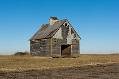 Old weathered barns in NW Illinois. Old wooden barns in the rural Midwest. LaSalle County, Illinois, USA royalty free stock photos