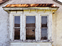Old weathered bay window Royalty Free Stock Photos