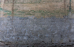 Old weathered blue brick wall Royalty Free Stock Photography