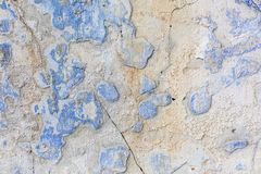 Old weathered blue plaster wall texture. Grunge background. Old weathered blue plaster wall texture. Grunge background royalty free stock photo