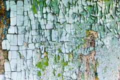 Old, weathered boards with peeling paint. Royalty Free Stock Photos