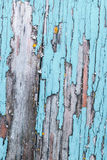 Old, weathered boards with peeling paint. Royalty Free Stock Photography