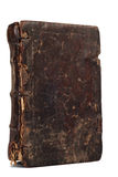 Old weathered book with staines Royalty Free Stock Photos
