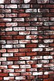 Old brick wall in white and red Stock Photo