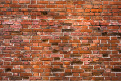 Old and weathered brick wall. stock photography