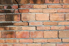 Old weathered brick wall fragment Stock Images