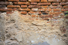 Old weathered brick wall fragment, use as background Royalty Free Stock Photography