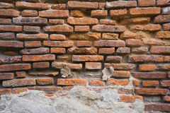 Old weathered brick wall fragment, use as background Royalty Free Stock Images
