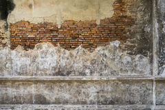 Old weathered brick wall fragment, use as background Royalty Free Stock Image