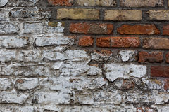 Old weathered brick wall, texture, background Royalty Free Stock Image