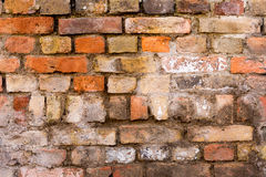 Old weathered brick wall, texture, background. Old weathered brick wall texture for backgrounds Royalty Free Stock Photo