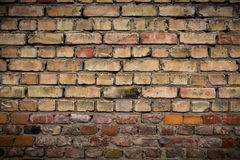 Old weathered brick wall, texture, background Royalty Free Stock Images