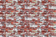Old weathered brick wall with traces of old plaster corrosion ruined surface base design photo studio base grunge royalty free stock image
