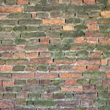 Old weathered and broken brick wall Stock Photography