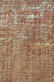 Old weathered brown brick wall background texture Royalty Free Stock Images