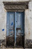 Old weathered carved traditional zanzibarian door Royalty Free Stock Photo