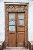 Old weathered carved traditional zanzibarian door Royalty Free Stock Photography