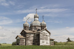 Old weathered church. Old weathered country church on a summer day Royalty Free Stock Image