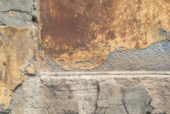 Old weathered concrete wall with damages and cracks texture background Stock Image