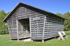 Old weathered corn crib stock photography