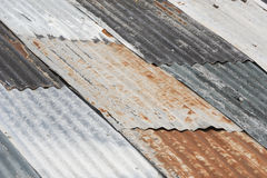 Old weathered corrugated metal Royalty Free Stock Images
