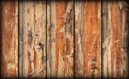 Old Weathered Cracked Flaky Wooden Laminated Block-board Panel Vignetted Grunge Texture Stock Photos