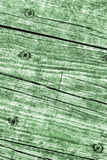 Old Weathered Cracked Knotted Kelly Green Pine Wood Floorboards Grunge Texture Stock Image