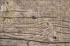 Old Weathered Cracked Knotted Pine Wood Floorboard Grunge Texture.  Stock Photo