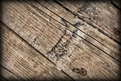 Old Weathered Cracked Knotted Pine Wood Floorboards Vignetted Grunge Texture Royalty Free Stock Photo