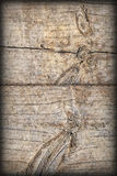 Old Weathered Cracked Knotted Pine Wood Floorboards Vignetted Grunge Texture Stock Photos