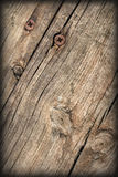 Old Weathered Cracked Knotted Pine Wood Floorboards Vignetted Grunge Texture Royalty Free Stock Photography