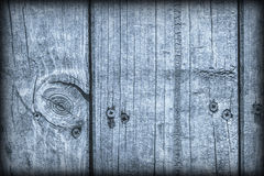 Old Weathered Cracked Knotted Powder Blue Pine Wood Floorboards Vignetted Grunge Texture Stock Photography