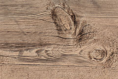 Old Weathered Cracked Rough Textured Plank With Knot Royalty Free Stock Images
